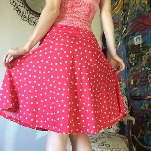 Honey and Lace Skirts - Honey & Lace Minnie Mouse Red Polka Dot Skirt